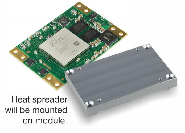 SoM mit Xilinx Zynq 7045-3E und Heat Spreader,1 GByte DDR3L SDRAM, 5,2 x 7,6 cm