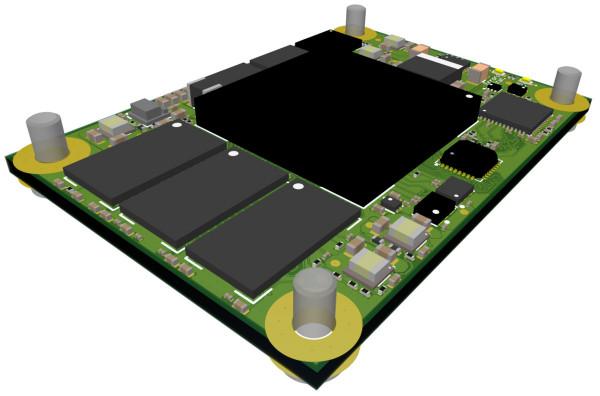 MPSoC-Modul mit Xilinx Zynq UltraScale+ ZU2CG-1E, 4 GByte DDR4, 4 x 5,6 cm
