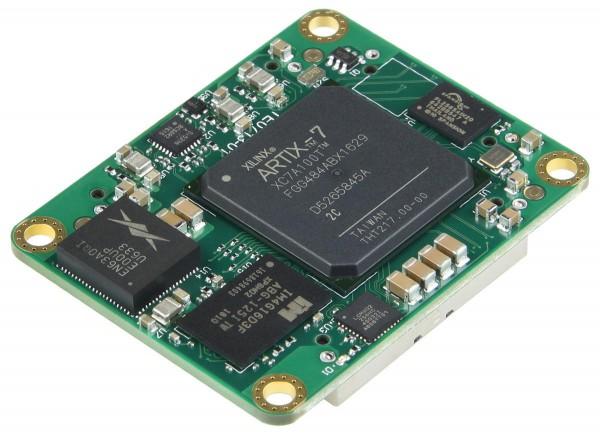 Trenz Electronic TE0713, 4 x 5 cm FPGA Module with Xilinx Artix-7, angle view