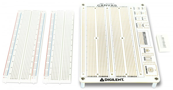 Black Canvas with two solderless breadboards - academic