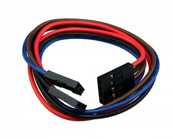 "4-Pin to 2x 2-Pin MTE Kabel 22 cm (9"")"