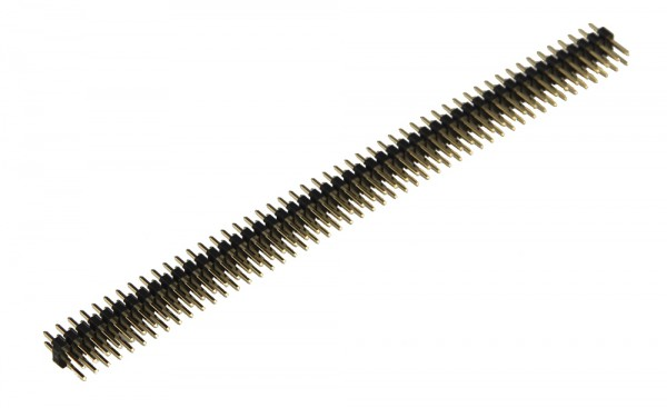 Pinheader, straight, double row, 100 pin, 11.3 mm pin length