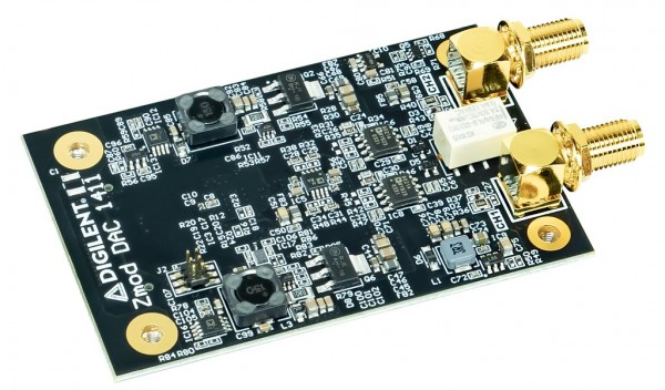 Zmod DAC 1411: SYZYGY-compatible Dual-channel 14-bit Digital-to-Analog Converter