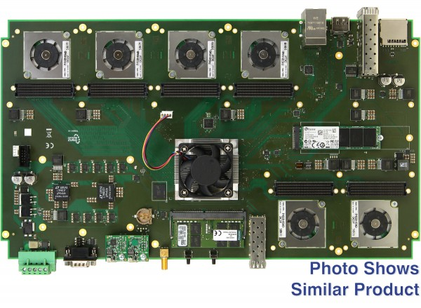 TEB0911 UltraRack+ MPSoC-Board mit Xilinx Zynq UltraScale+ ZU9, 6 FMC-Anschlüsse