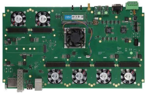 TEB0911 UltraRack+ MPSoC Board with Xilinx Zynq UltraScale+ ZU9,6 FMC Connectors
