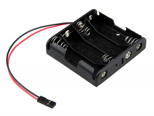 Battery holder for 4 x AA batteries