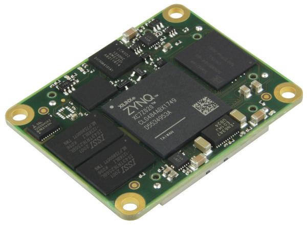 SoC-Modul mit Xilinx Zynq 7020-2I, 1 GByte DDR3 , 4 x 5 cm, low profile