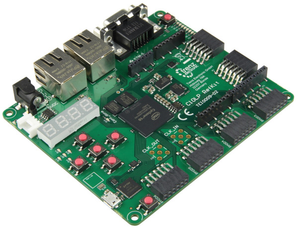 Cyclone 10 LP RefKit 10CL055 Development Board, 32 MByte SDRAM, 16 MByte Flash