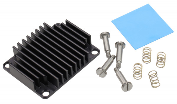 Kühlkörper für Trenz Electronic Module TE0600, federnd gelagert