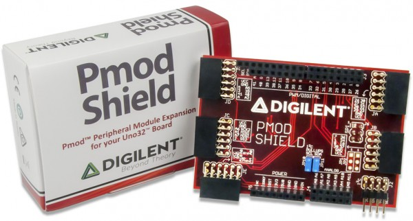 Pmod Shield: Adapter Board for Uno R3 Standard to Pmod (REV B)