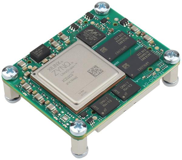 MPSoC-Modul mit Xilinx Zynq UltraScale+ ZU2CG-1I, 2 GByte DDR4 SDRAM, 4 x 5 cm