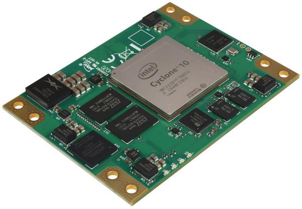 FPGA-Modul mit Intel Cyclone 10 GX, 2 GByte DDR3L SDRAM, 6 x 8 cm