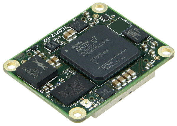 FPGA-Modul mit Xilinx Artix-7 XC7A100T-2C, 1 GByte DDR3, 4 x 5 cm, low profile