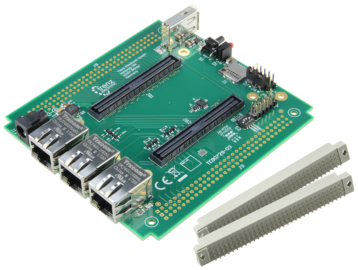 Carrier Board For Te0729 Zynq 7020 Soc With Usb A Host Connector 33 Vhdl Example 18 4bit Binarytobcd Converter Logic Youtube Accessories Products Trenz Electronic Gmbh Online Shop En
