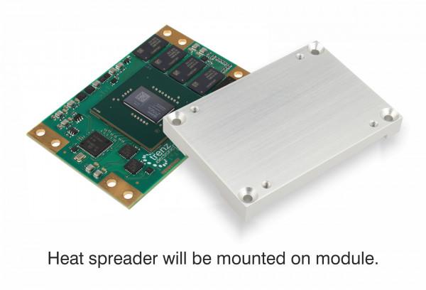 MPSoC-Modul TE0807 mit Zynq UltraScale+ ZU4EG-E und montiertem Heat Spreader