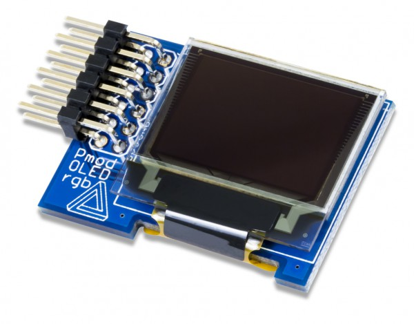 Pmod OLEDrgb: 96 x 64 RGB OLED with 16-bit color resolution