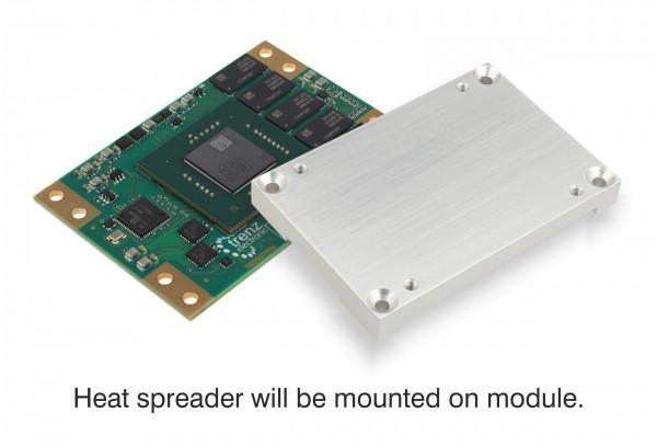 MPSoC-Modul TE0807 mit Zynq UltraScale+ ZU7EV-E und montiertem Heat Spreader