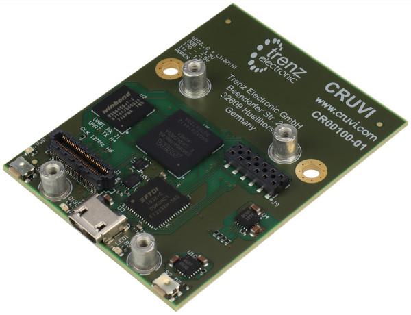 CRUVI MAX 10 Basisboard mit Intel MAX 10 FPGA, 8 MByte SDRAM, 44,85 x 57,50 mm