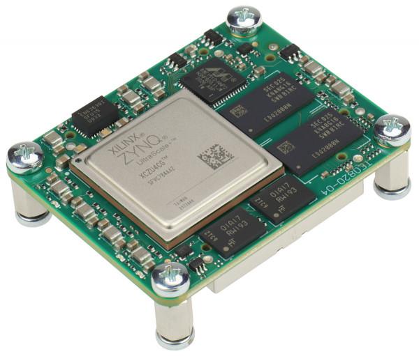 MPSoC-Modul mit Xilinx Zynq UltraScale+ ZU4CG-1E, 2 GByte DDR4 SDRAM, 4 x 5 cm