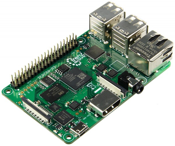 ZynqBerry: Raspberry Pi Form Faktor mit Xilinx Z-7007S Single-core, 512 MB DDR3L