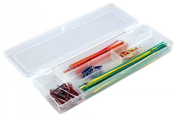 Steckbrett-Draht-Set mit Drähten in verschiedenen Längen und Farben