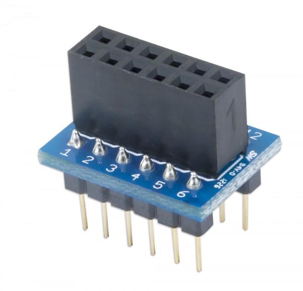 Pmod DIP: DIP to 12-pin Pmod Adapter