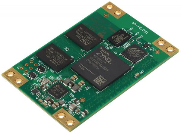 SoC-Modul mit Xilinx Zynq XC7Z010-1CLG400I, 1 GByte DDR3L, 4 x 6 cm