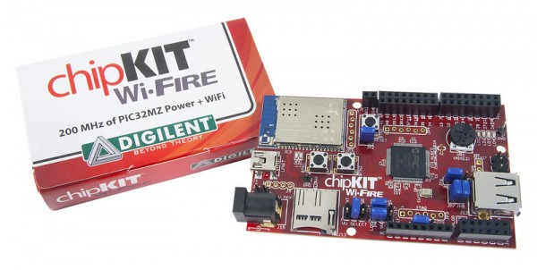 chipKIT Wi-FIRE: WiFi Enabled PIC32MZ Microcontroller Board