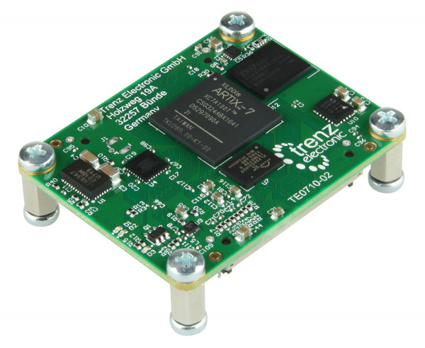 Dual fast Ethernet FPGA-Modul mit Xilinx Artix-7 100T, 512 MByte DDR3, 4 x 5 cm