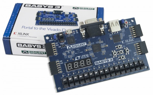 Basys 3 Artix-7 FPGA Board Academic
