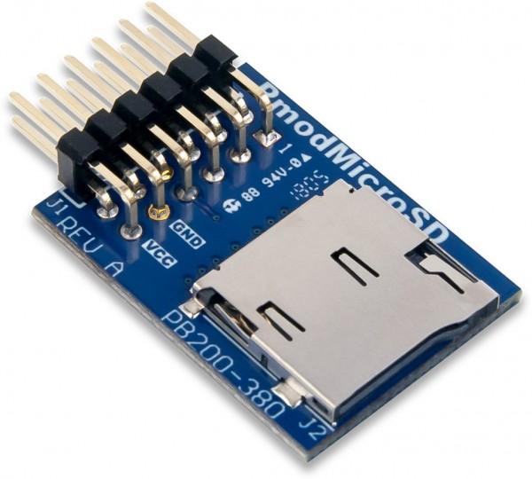 Pmod MicroSD: microSD Kartensteckplatz