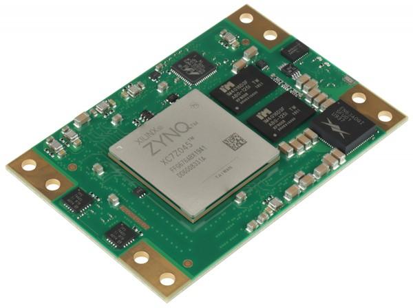 SoM with Xilinx Zynq XC7Z045-2FFG676I, 1 GByte DDR3L SDRAM, 5.2 x 7.6 cm
