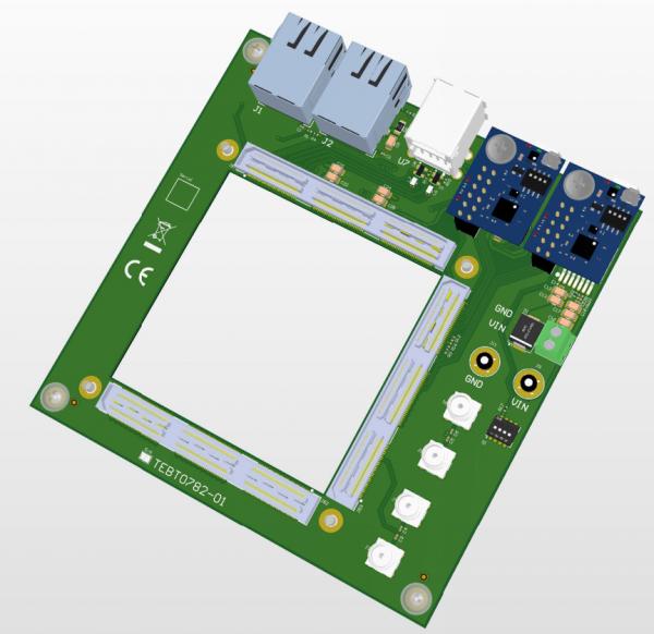 Testplatine für das Trenz Electronic TE0782 SoC