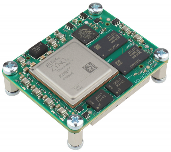 MPSoC-Modul mit Xilinx Zynq UltraScale+ ZU5EV-1I, 2 GByte DDR4 SDRAM, 4 x 5 cm