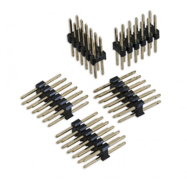 2x 6-Pin (12-Pin) Stecker & Gender-Changer (5 Stück)